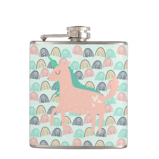 Rainbows and Unicorns Hip Flask