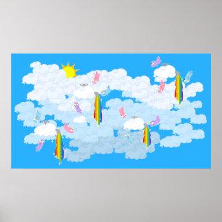 Rainbows and Unicorns Poster