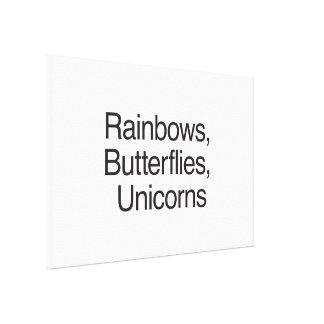 Rainbows Butterflies Unicorns Canvas Prints