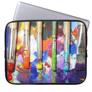Rainbows In Progress Paint Brush Photography Laptop Sleeve