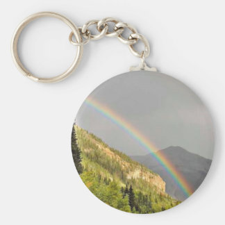 Rainbows on east side of Red Mountain Pass Key Ring