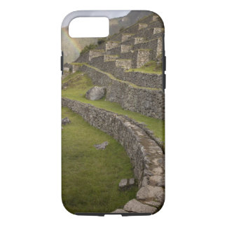 Rainbows over the agricultural terraces, Machu iPhone 8/7 Case