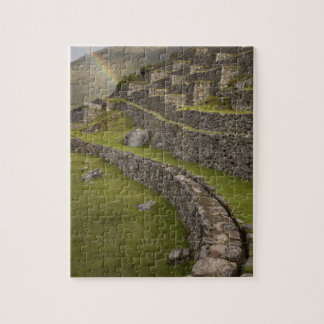 Rainbows over the agricultural terraces, Machu Jigsaw Puzzle