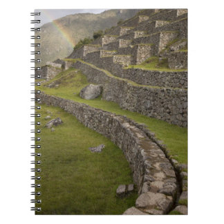 Rainbows over the agricultural terraces, Machu Notebook