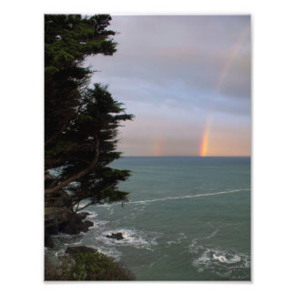 Rainbows Over the Ocean at Mendocino Coast Photo Print