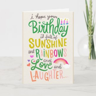 Rainbows & Sunshine Card