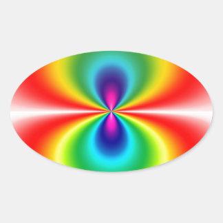 rainbowSpherical.jpg Oval Sticker