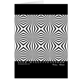Rainbowtruth Live Hallucinations Optical Illusion Greeting Card