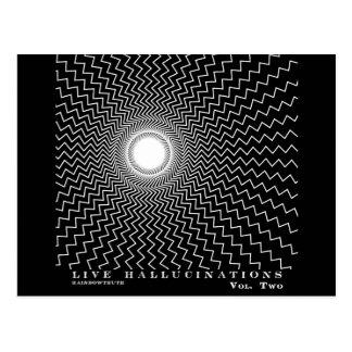 Rainbowtruth Live Hallucinations Optical Illusion Postcard