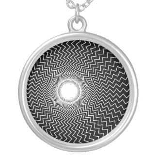 Rainbowtruth Live Hallucinations Optical Illusion Round Pendant Necklace