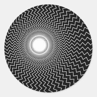 Rainbowtruth Live Hallucinations Optical Illusion Classic Round Sticker