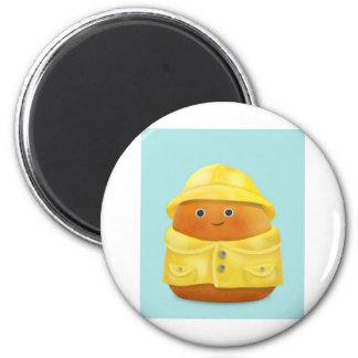 Raincoat Ruby 6 Cm Round Magnet
