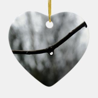 Raindrop Ceramic Heart Decoration