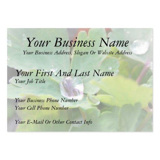 Raindrop on Columbine Leaf Business Card Template