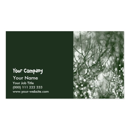 Raindrops Business Card Template