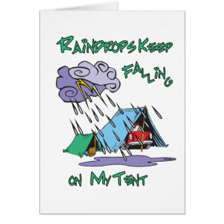 Raindrops Camping Greeting Card