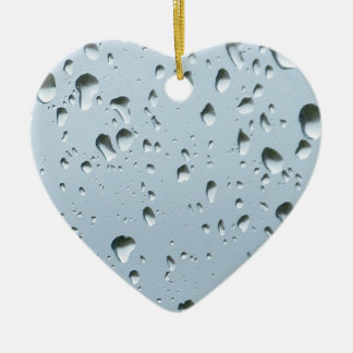 Raindrops Ceramic Heart Decoration