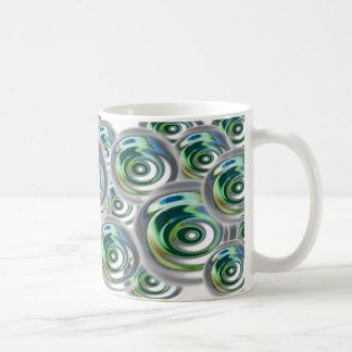 Raindrops Coffee Mug Green/Blue