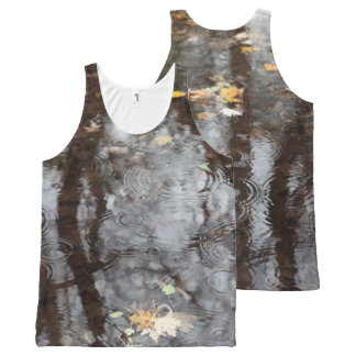 Raindrops in Pond All Over Tank Top All-Over Print Tank Top