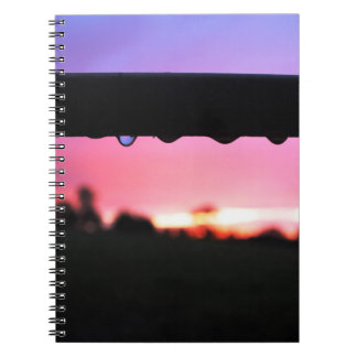 Raindrops In Sunset Notebook