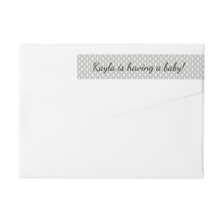 Raindrops Neutral Baby Shower  | Return Address Wrap Around Label