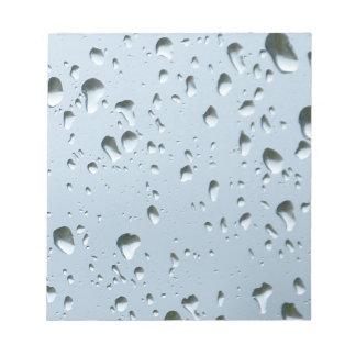 Raindrops Notepad