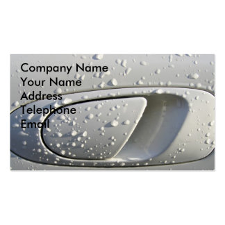 Raindrops on a Car Pack Of Standard Business Cards