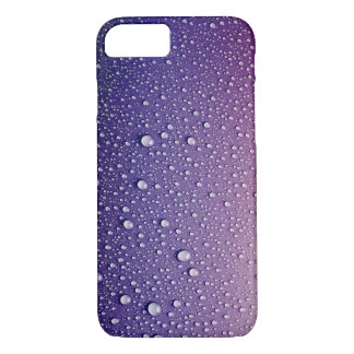 Raindrops On A Purple Surface iPhone 7 Case