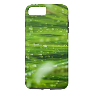 Raindrops on blades of grass iPhone 7 plus case