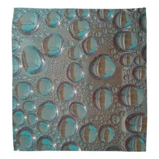 Raindrops on Brown and Teal Surface Bandanna