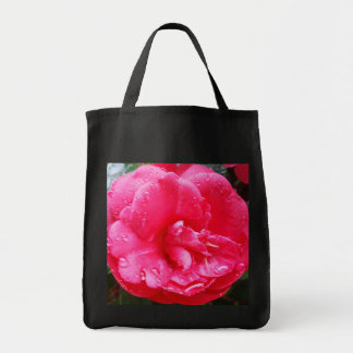 Raindrops on Camellia Tote Bag