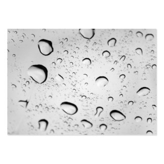 Raindrops on Glass Business Card Templates