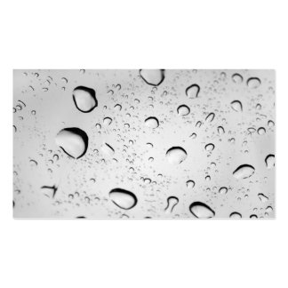 Raindrops on Glass Business Card Template