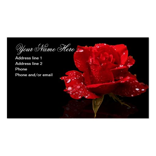 RAINDROPS ON ROSE #1 BUSINESS CARD TEMPLATE