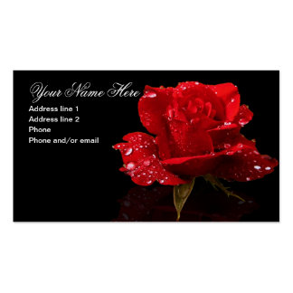 RAINDROPS ON ROSE #1 PACK OF STANDARD BUSINESS CARDS