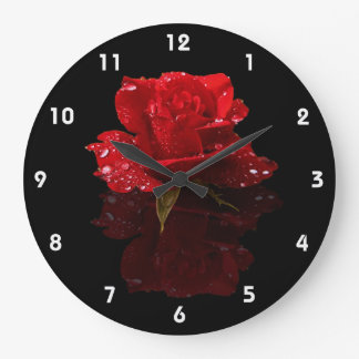 RAINDROPS ON ROSE 2 WALL CLOCKS