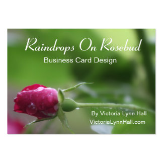 Raindrops On Rosebud Photography Pack Of Chubby Business Cards