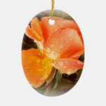 Raindrops on Roses..... Christmas Tree Ornament