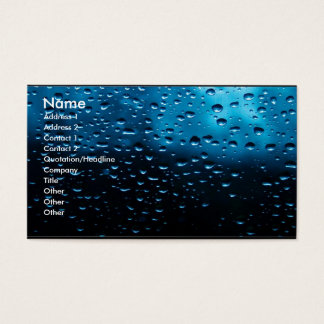 Raindrops on Window Business Card