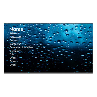 Raindrops on Window Business Card Template