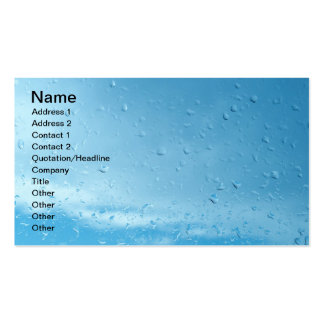Raindrops Pack Of Standard Business Cards