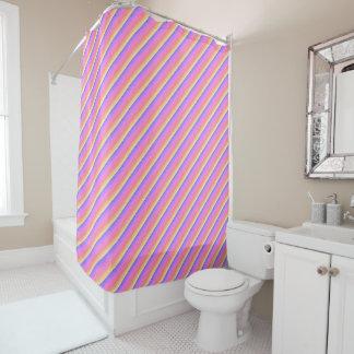 Raindrops rainbow shower curtain