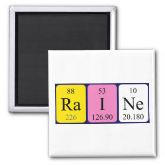Raine periodic table name magnet