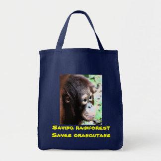 Rainforest and Orangutans Tote Bag