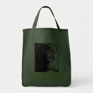 Rainforest and Orangutans Grocery Tote Bag