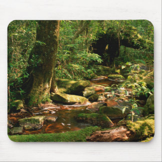 Rainforest Jungle Stream Landscape Mousepad