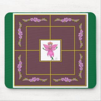 Rainforest Orchid Fairy 9 Mens Morris Mouse Mat
