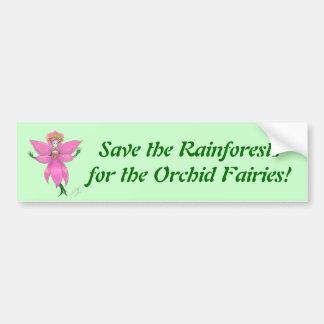 Rainforest Orchid Fairy Bumper Sticker Car Bumper Sticker
