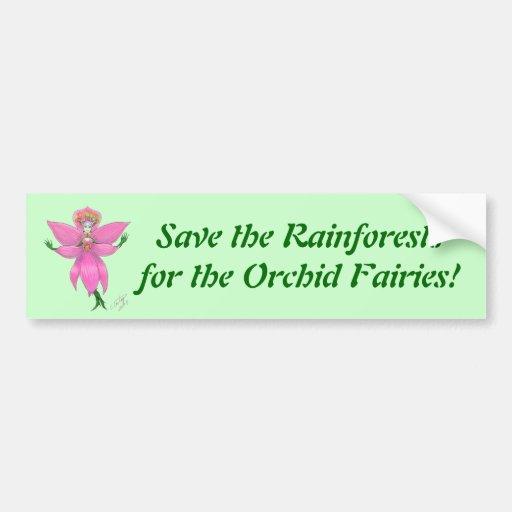 Rainforest Orchid Fairy Bumper Sticker