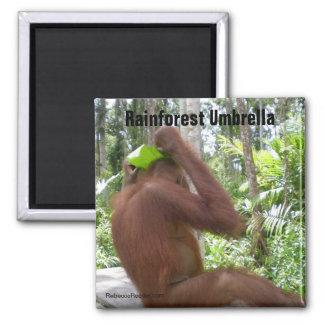 Rainforest Umbrella Square Magnet